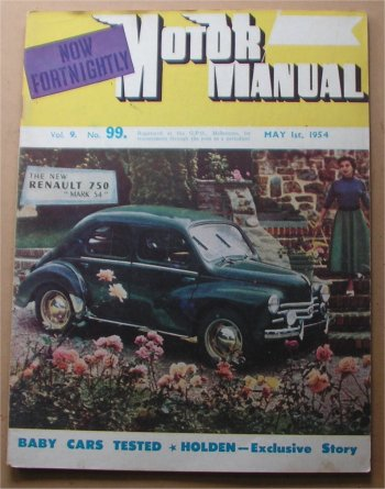 MM 1954/05-01 RENAULT 750 MORRIS MINOR VW BEETLE
