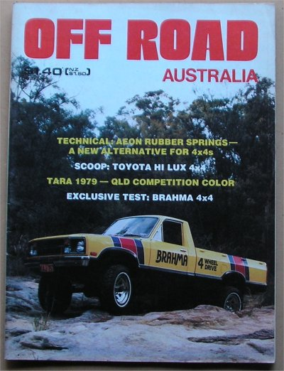 OFF ROAD 1979/03 TOYOTA HILUX  BRAHMA FORD COURIER