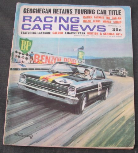RACING CAR NEWS 1967/09 TEST HOLDEN HR 186S BEECHEY NOVA COVER