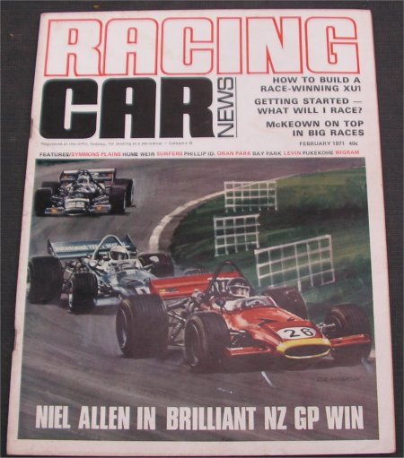 RACING CAR NEWS 1971/02 TORANA GTR XU-1