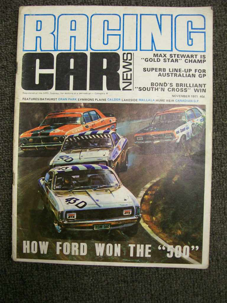 RACING CAR NEWS 1971/11 BATHURST MOFFAT WIN