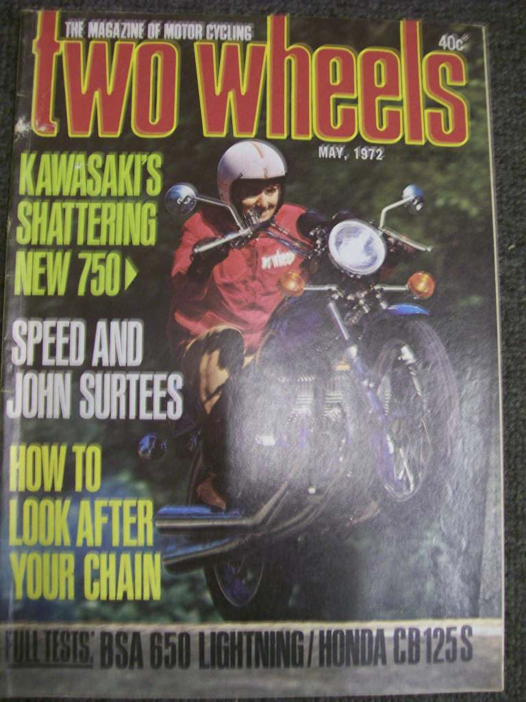 TWO WHEELS MAGAZINE 1972/05 KAWASAKI 750 MACH IV BSA 650