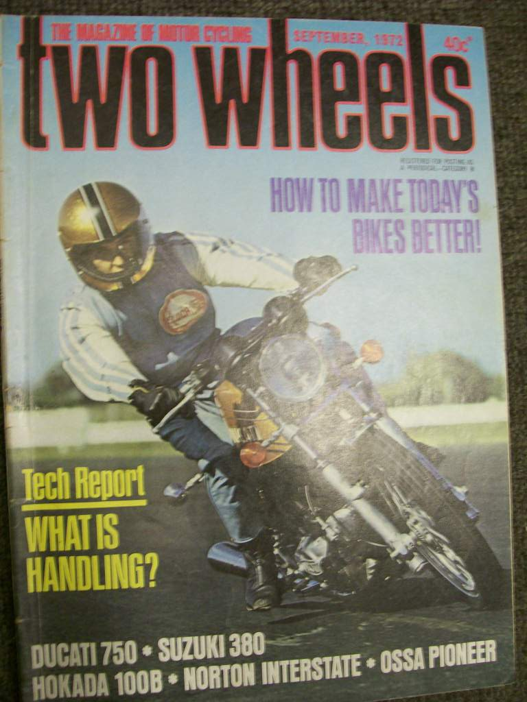TWO WHEELS MAGAZINE 1972/09 NORTON 750 HODAKA 100B DUCATI 750