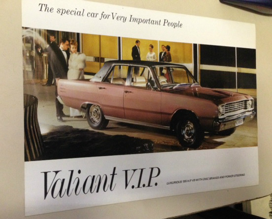 NOS VE VALIANT VIP SEDAN WAGON 273 V8 ORIGINAL SALES BROCHURE