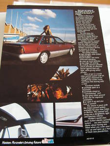 HOLDEN CALAIS 1984 1985 VK SUNROOF BROCHURE