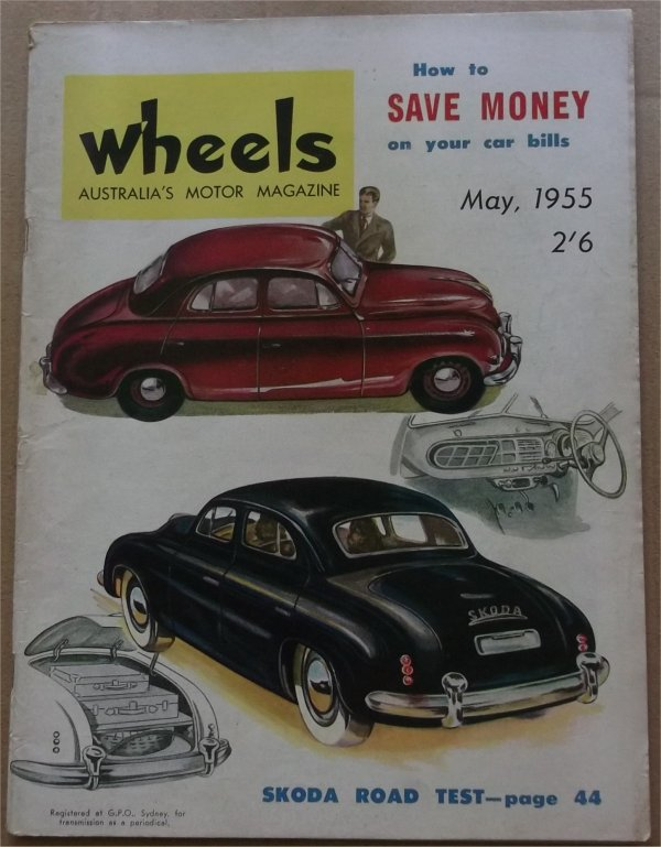 WHEELS 1955/05 SKODA 1200 RELIANT REGAL 3 WHEELER