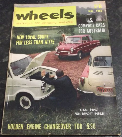 WHEELS 1960/05 JAGUAR 3.4 Mk 2 MERCEDES BENZ 220S NSU ROTARY