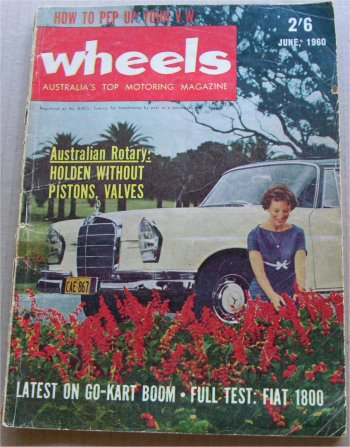 WHEELS 1960/06  VW BEETLE FIAT 1800 HOLDEN FJ FE