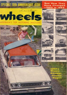 WHEELS 1963/05 MERCEDES BENZ 190C RAMBLER CLASSIC