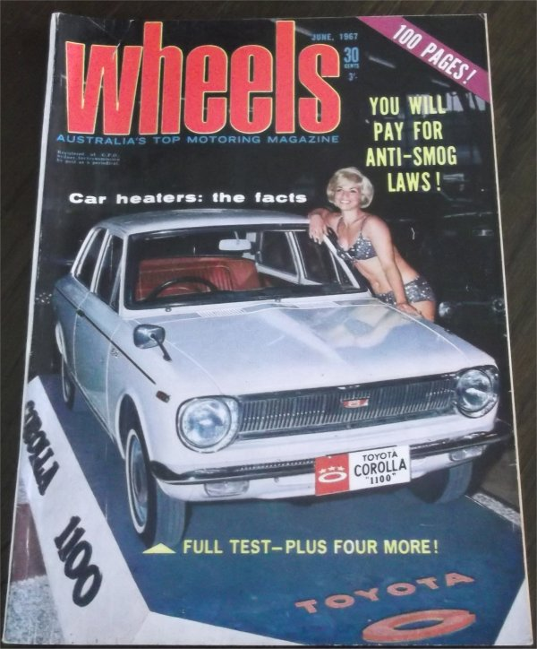 WHEELS 1967/06 TOYOTA COROLLA FAIRLANE 289 ZA FALCON XR GT
