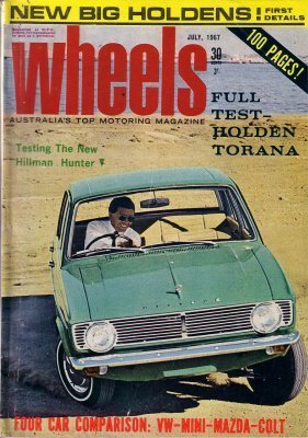 WHEELS 1967/07 HUNTER MINI DATSUN MAZDA 1000