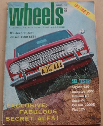 WHEELS 1967/08 HILLMAN IMP GT HOLDEN HR 186S