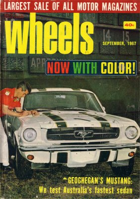 WHEELS 1967/09 FORD MUSTANG FALCON XT