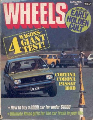 WHEELS 1977/01 HOLDEN FX FJ FB SUNBIRD CORTINA
