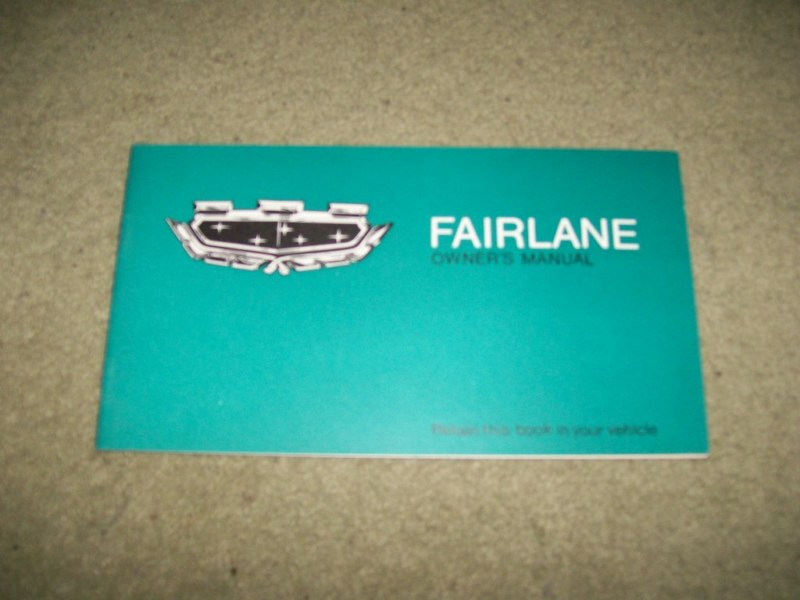 FAIRLANE ZC 302 351 1969 1970 NOS NEW OWNER HANDBOOK MANUAL